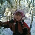 Annika - she really enjoys the winter.
